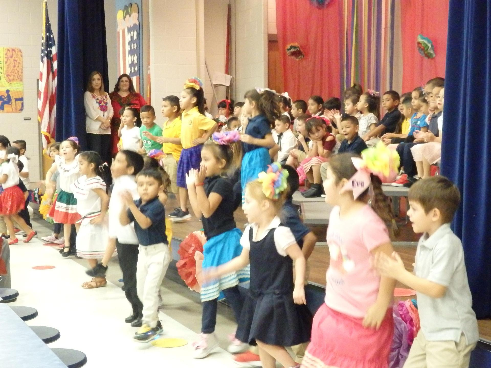 Kinder students sing at  parent program