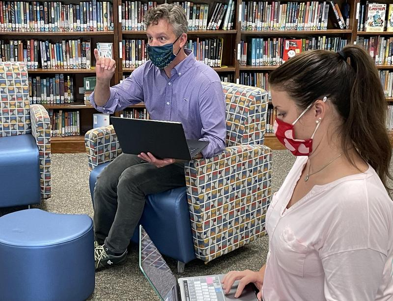 Teachers collaborate during recent professional development session.