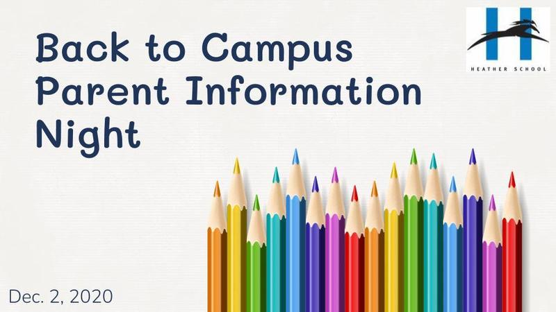 Return to School Parent Information Night Presentation, Dec. 2 Featured Photo