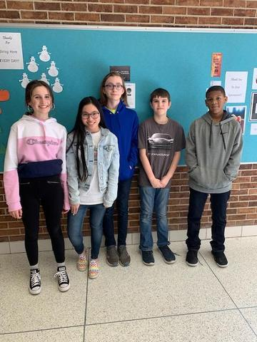 January perfect attendance winners are pictured