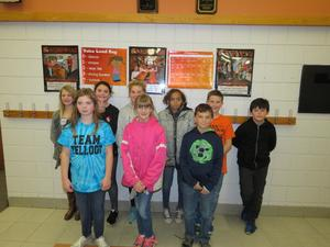 Page Elementary fifth-graders participated as guest panel members during the character assembly.