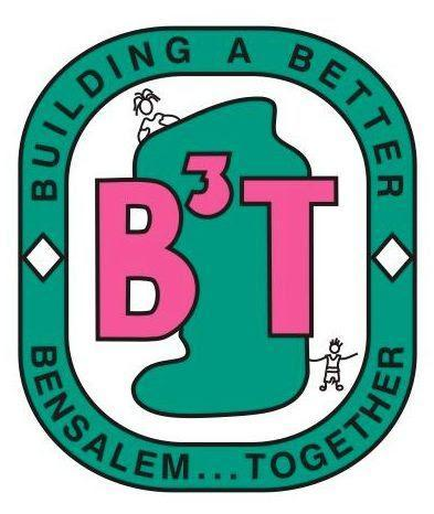 The B3T logo in pink with the words