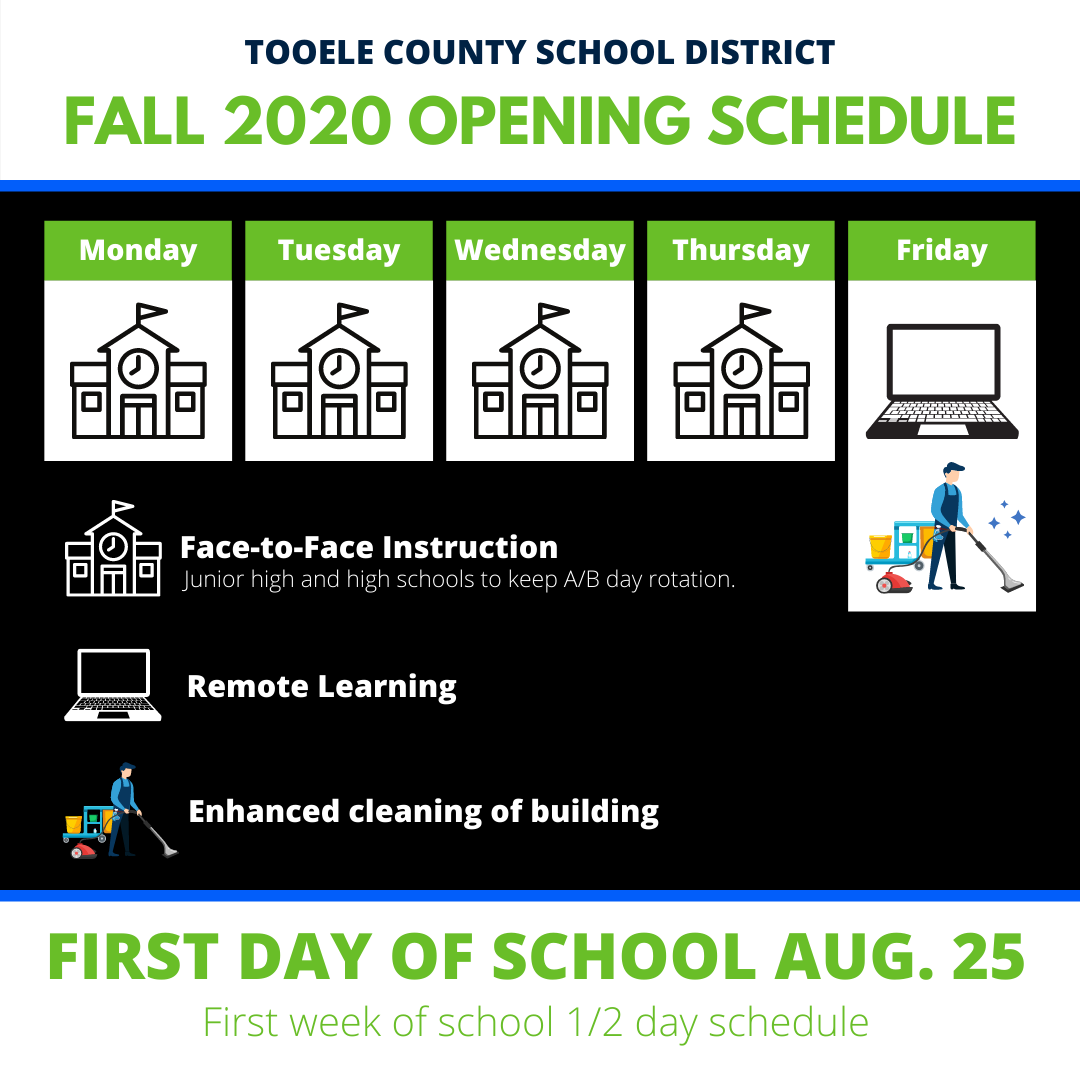 5 day back to school schedule