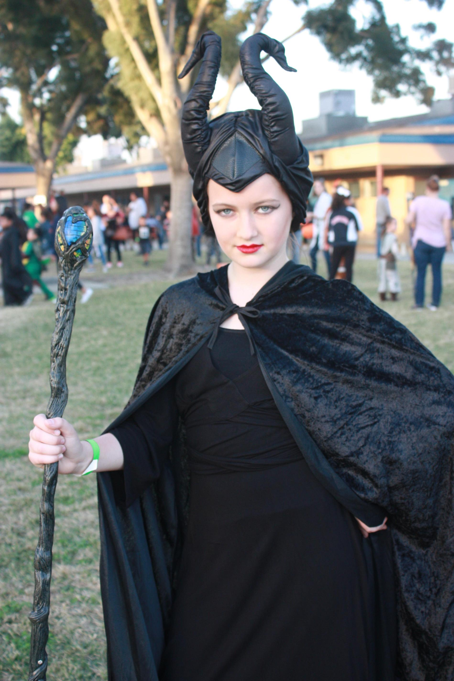 A student dressed up as Maleficent.