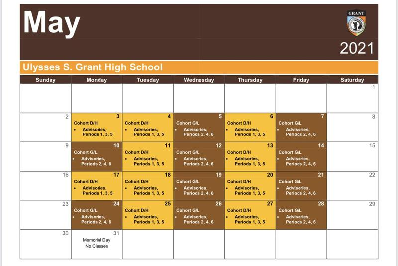 May Schedule Overview Featured Photo
