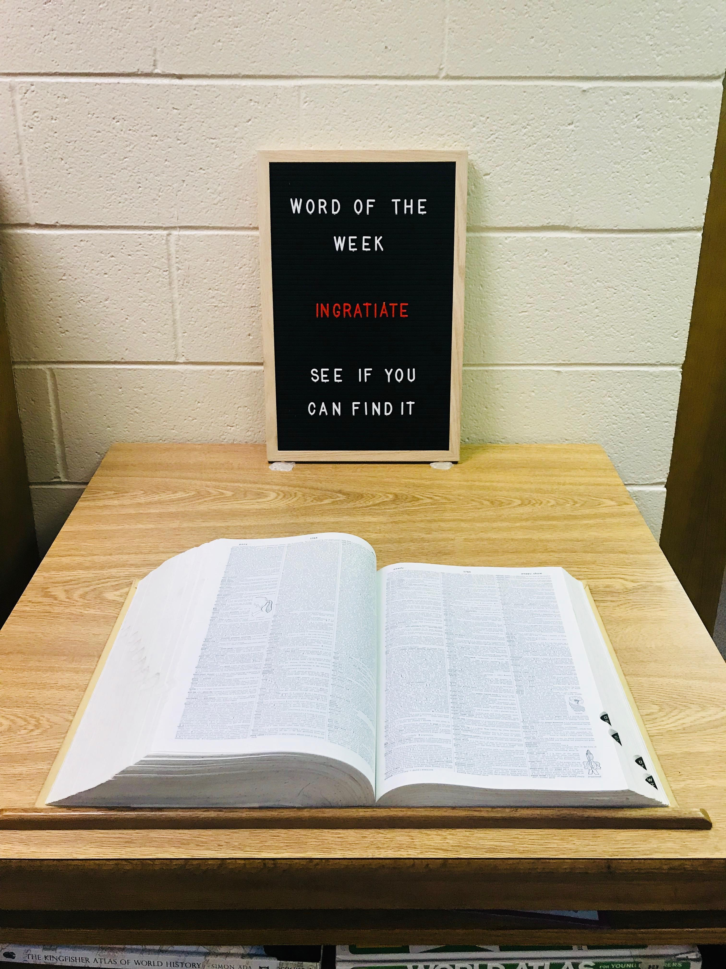Letter Board Word of the Week 9/3-9/7