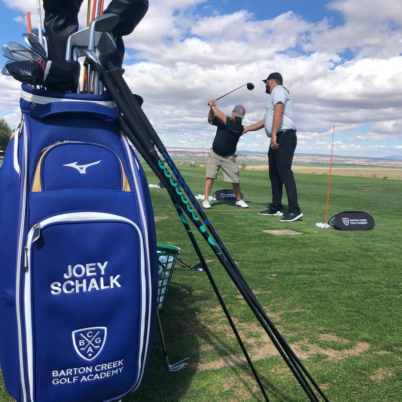 A snapshot from Sandia Prep's 2019 Golf Tournament.