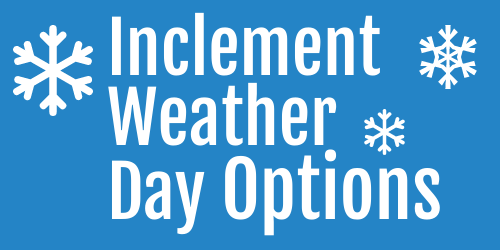 Inclement Weather Options graphic