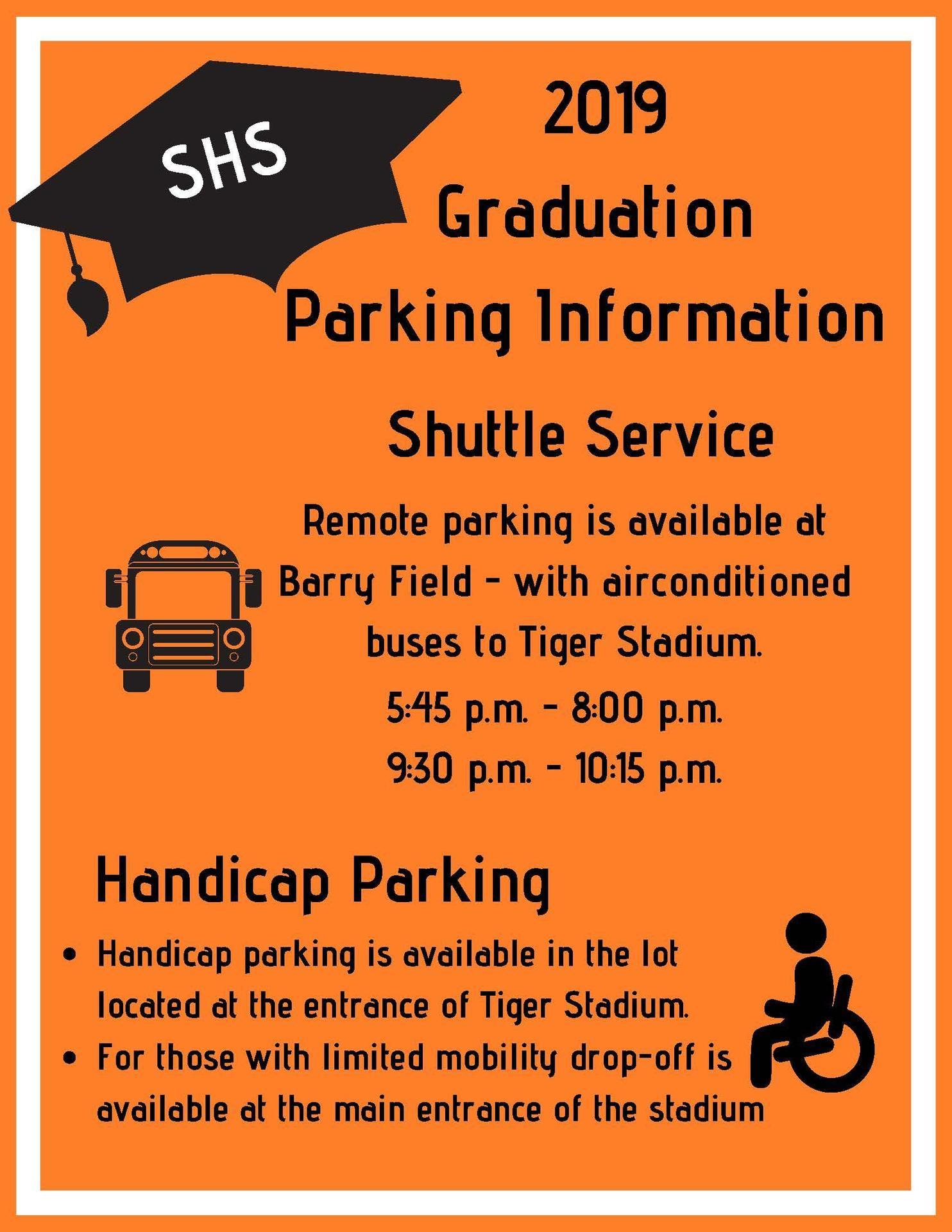 Graduation Parking Information