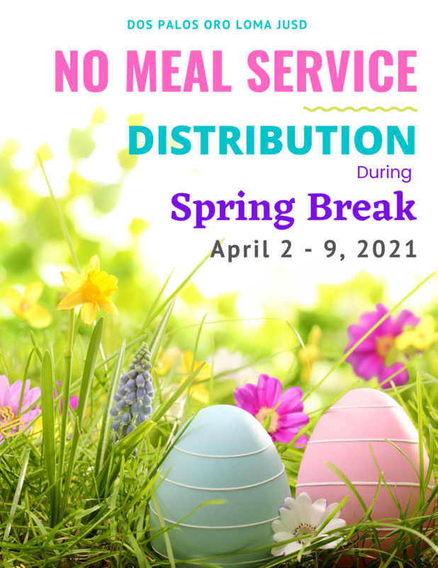 No Meal Distribution During Spring Break Featured Photo