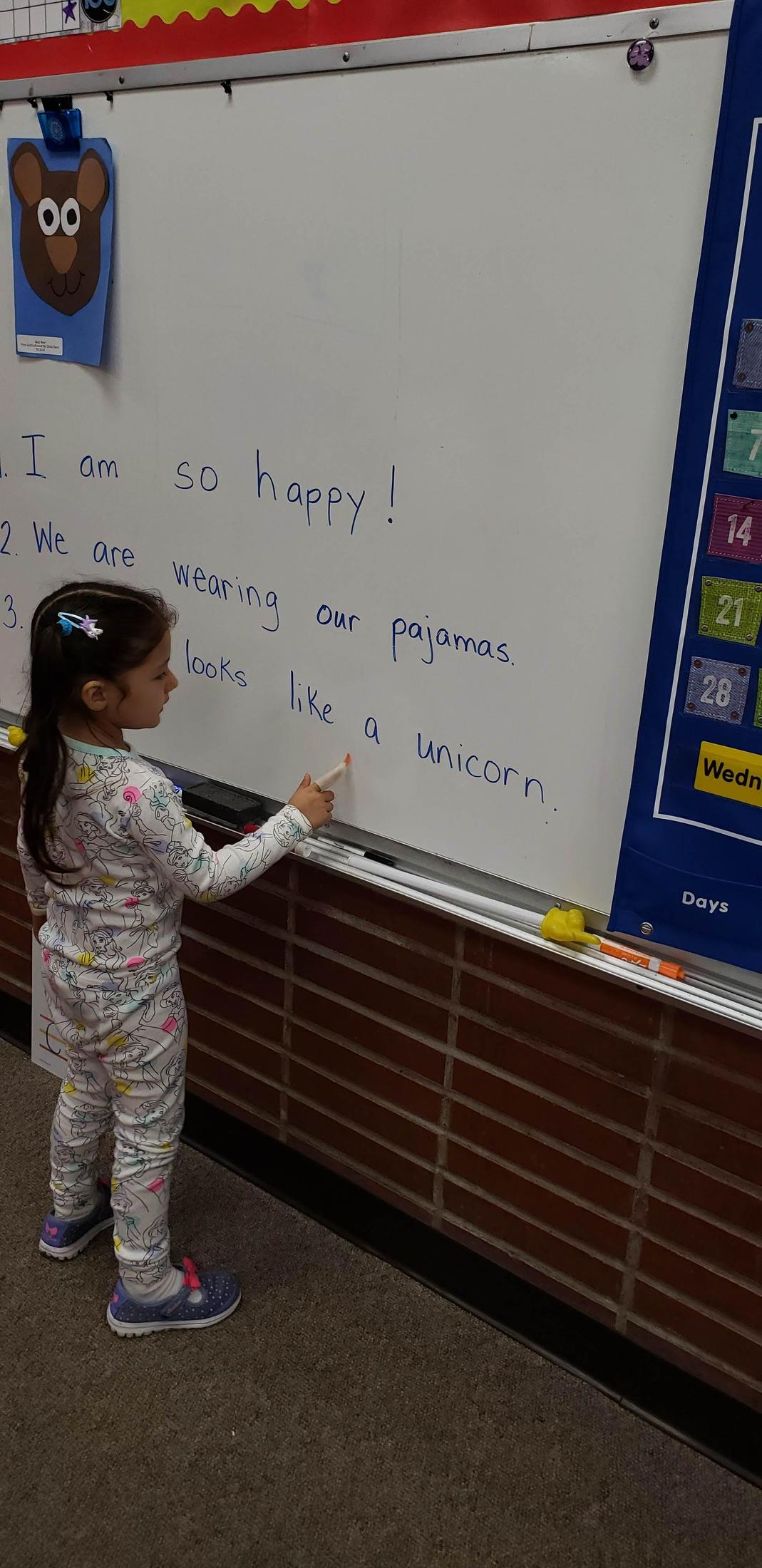 We are tracking words in sentences with witch fingers.