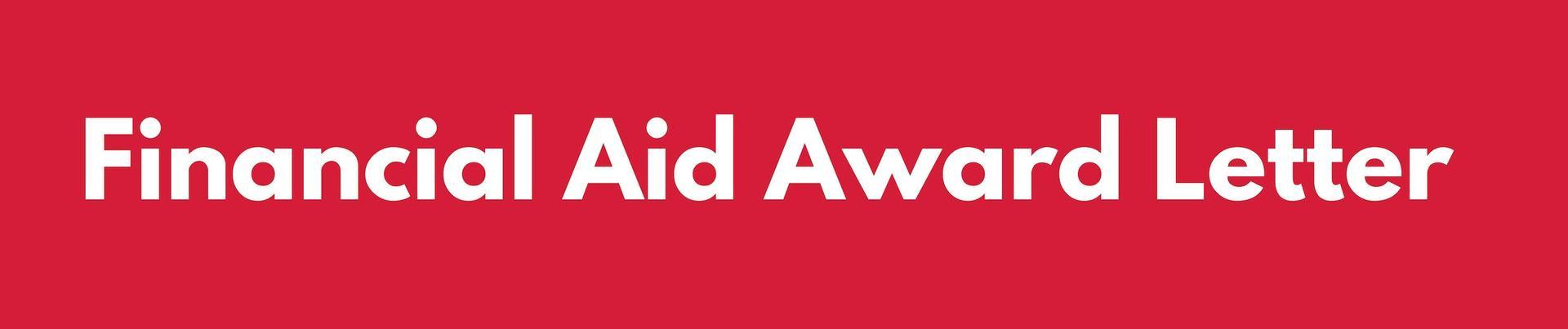 Financial Aid Award Header