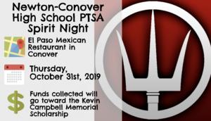 Spirit Night at El Paso restaurant October 31