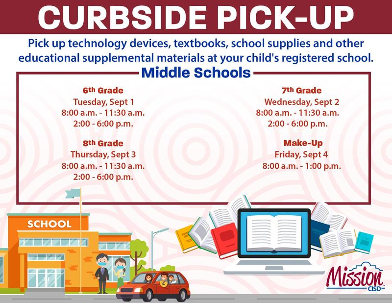 Curbside Pickup Schedule - Middle School Featured Photo