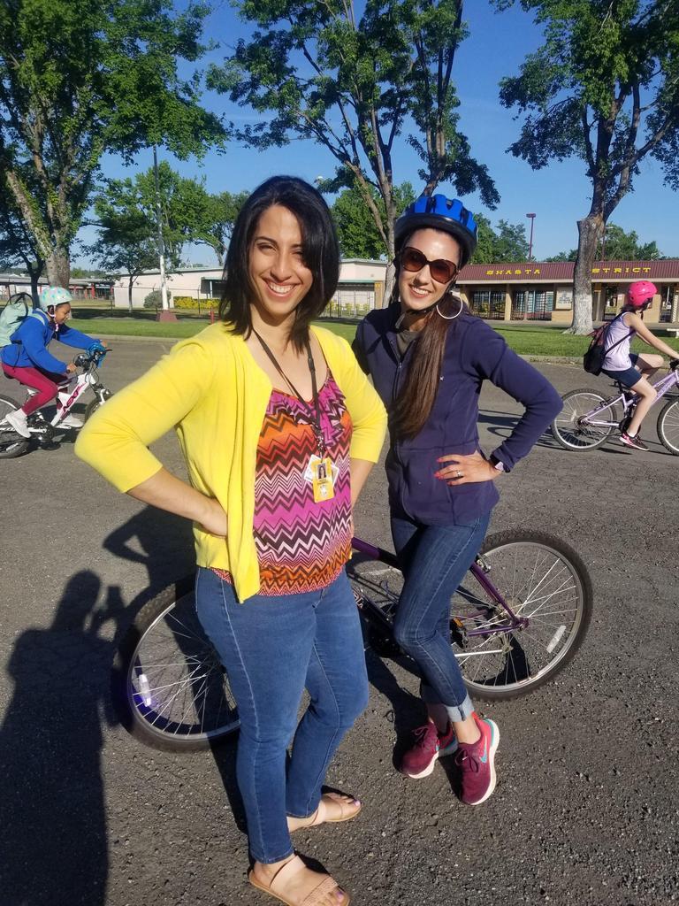 Teachers at Bike to School Day