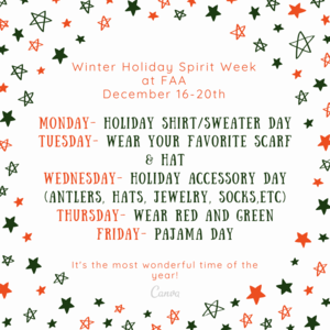 Spirit Week next week!