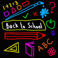 Clipart that says back to school