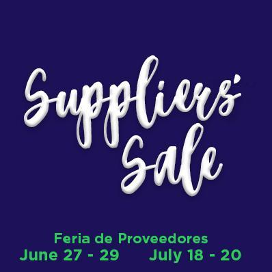 Suppliers Sale Featured Photo