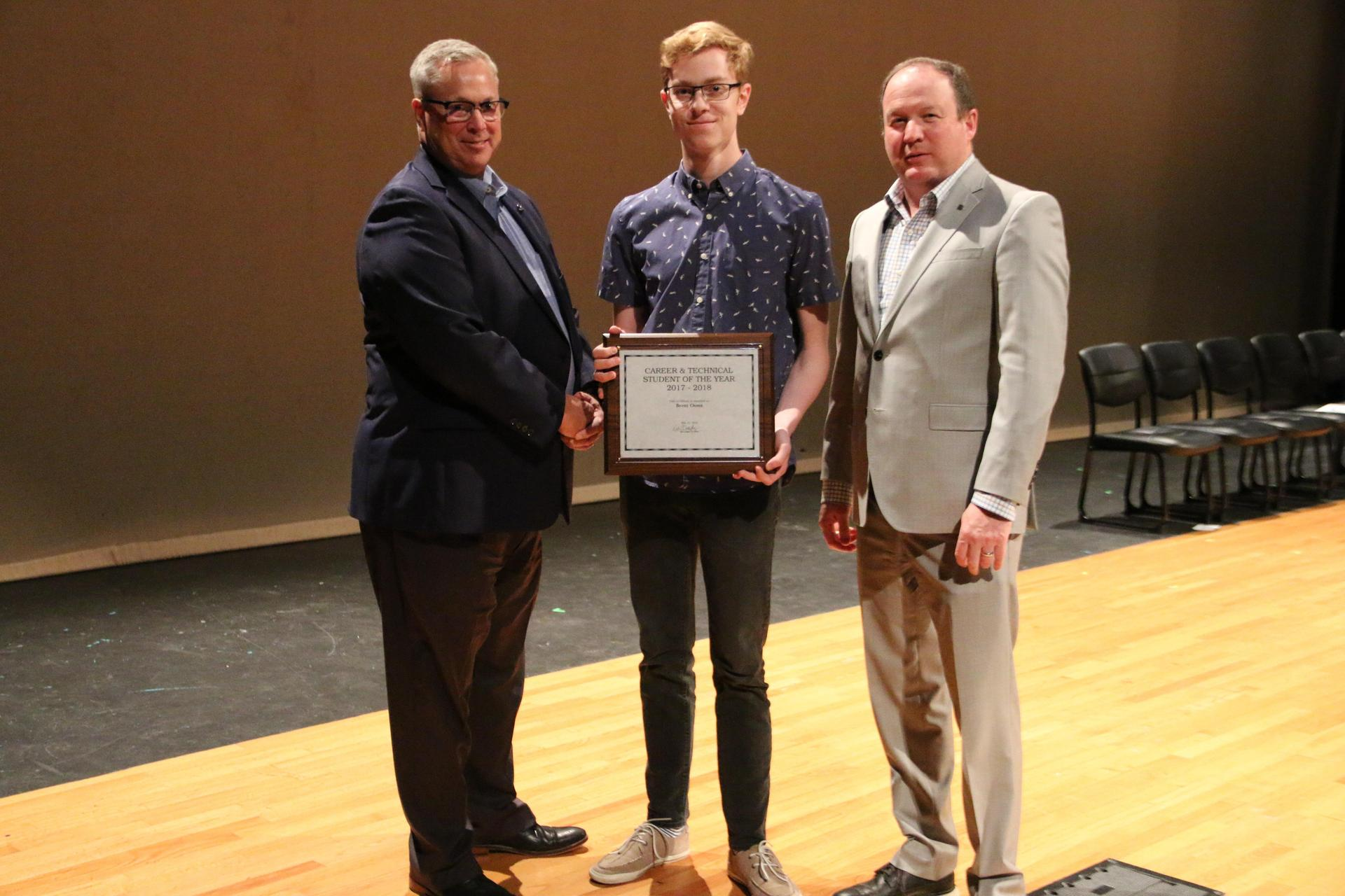 2017-2018 Student of the Year - Brent Ooms