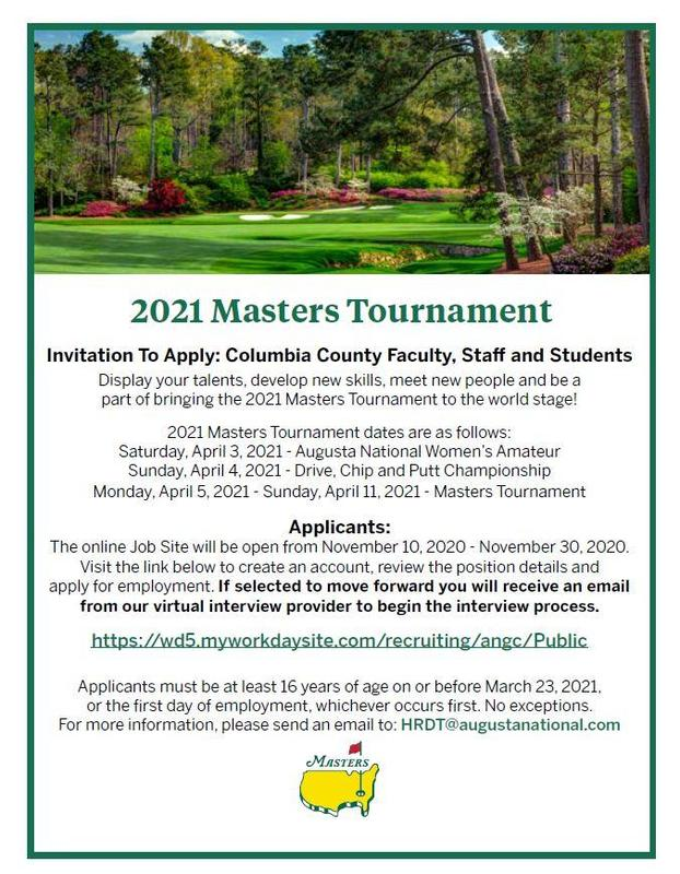 Augusta National Application