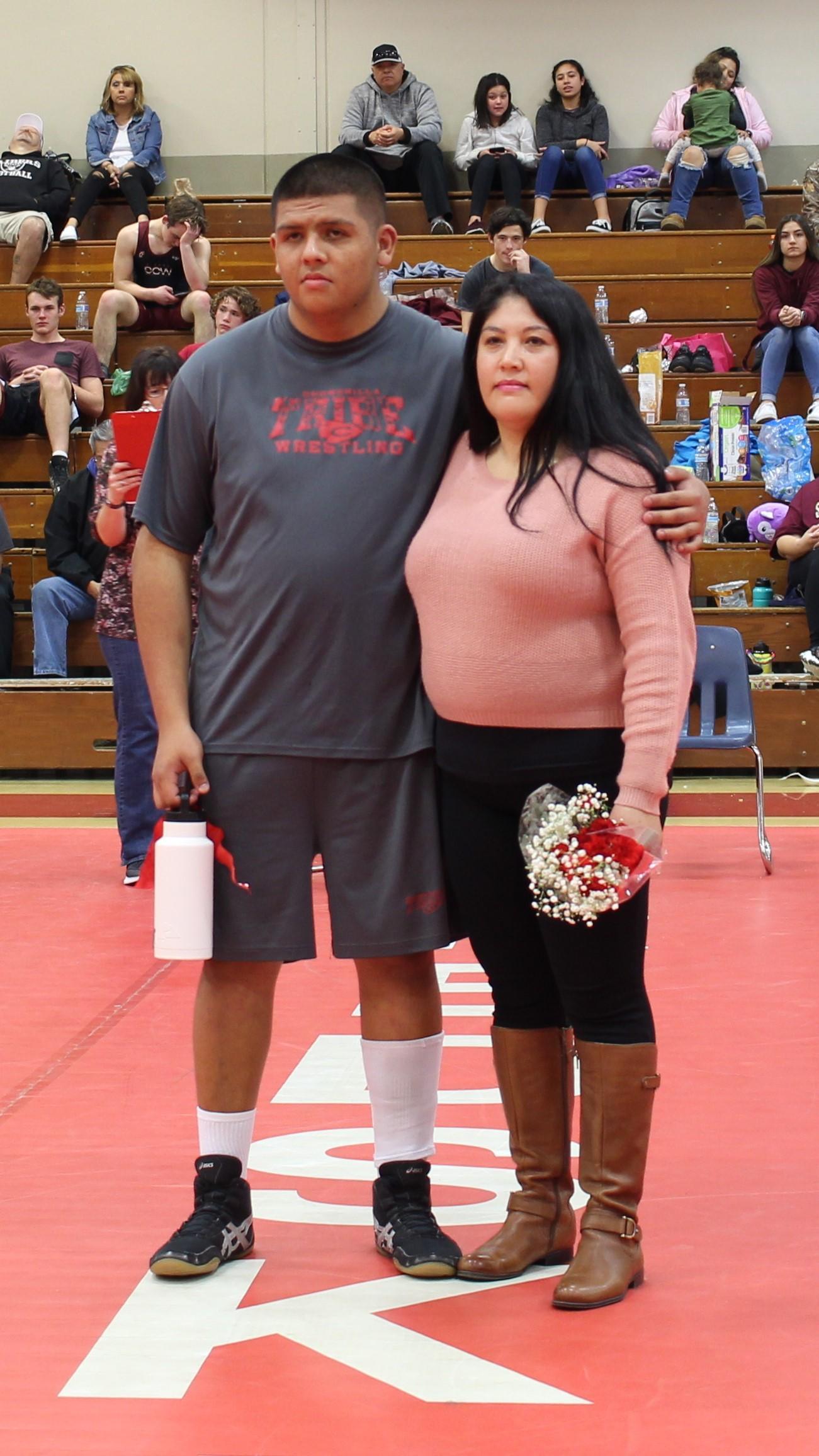 Cesar Rojo and parent