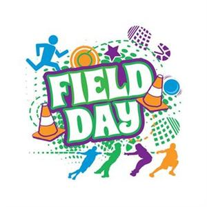 Colorful flyer with the word Field Day