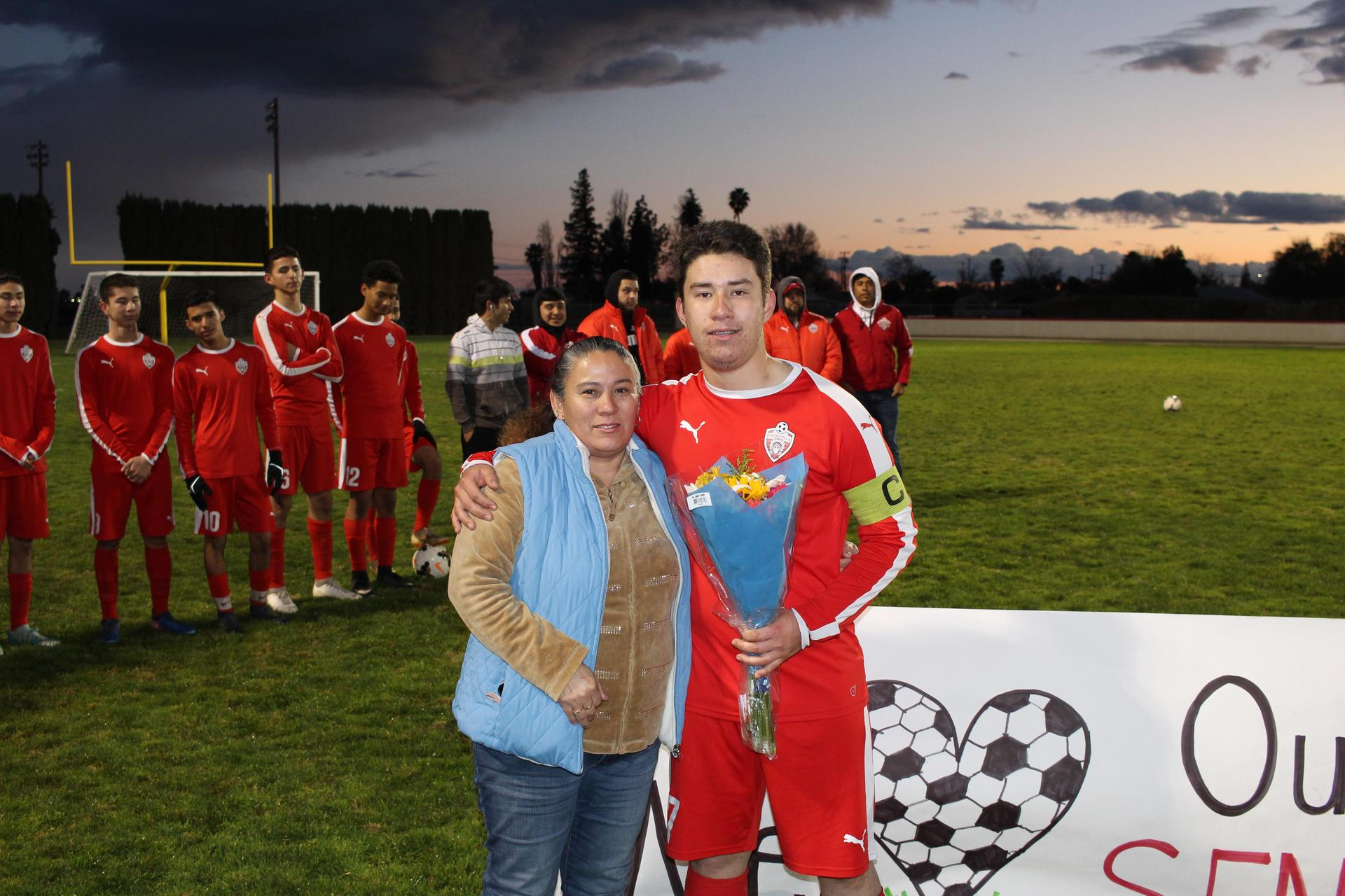 Ivan Gomez at Soccer Senior Night