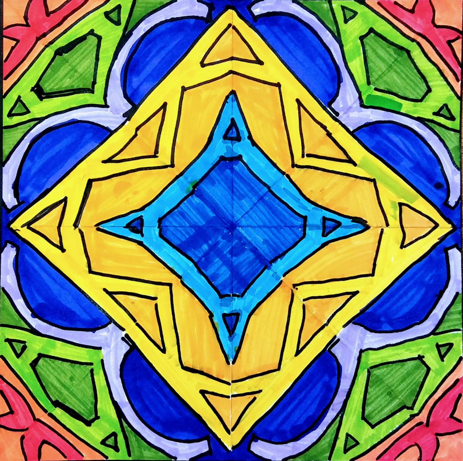 Landmark Student Drawing of Mandala