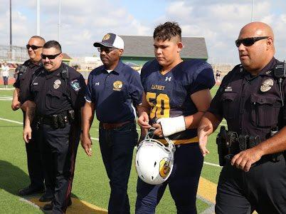 Police support Cathey football player whose father died in the line of duty