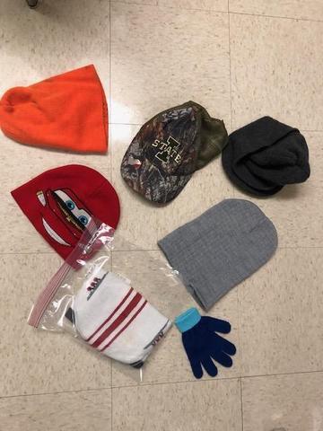 hats, toboggans, and gloves