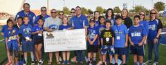 Tannahill student Brennan Maitlen won the WSISD Education Foundation's 2018 Field Goal Challenge for her school.