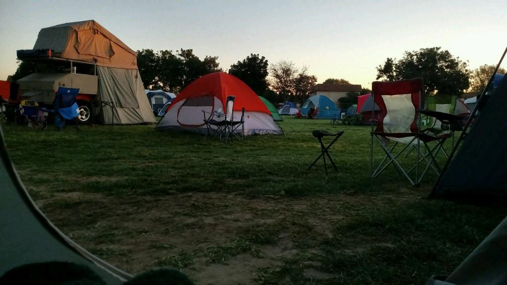 Tents are up