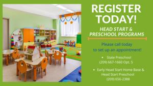 Preschool/Head Start Registration Flyer