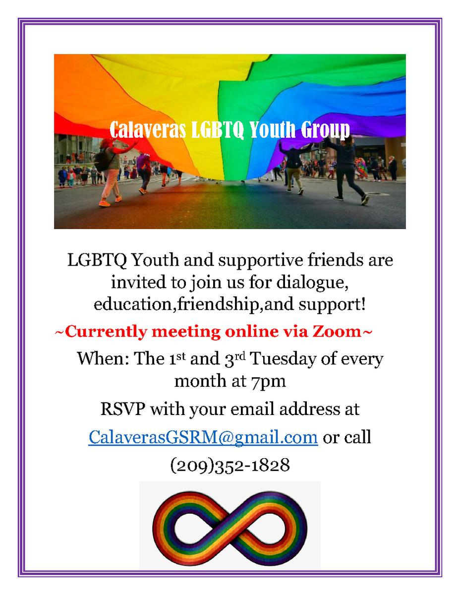 LQBTQ+ youth group flier