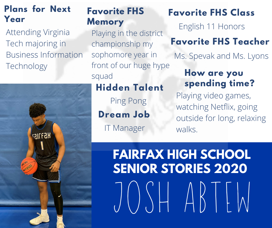 photo and list of activities for josh abtew