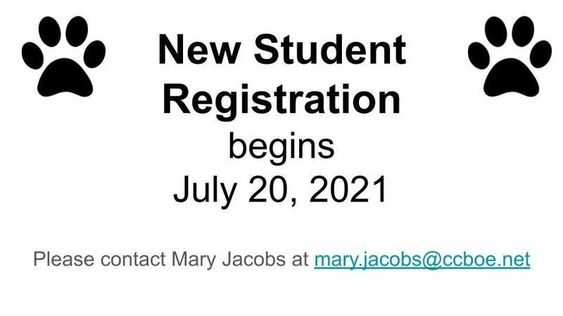 New Student Registration July 20