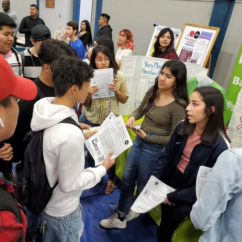 Baldwin Park High School NAMI club leaders hold workshops for students to learn more about the club and how they can help erase the stigma on mental health issues.