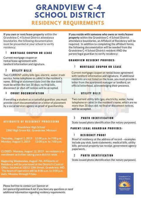 Residency Requirements – Registration / Enrollment