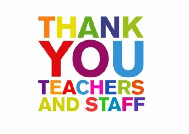 Thank you RH Teachers and Staff