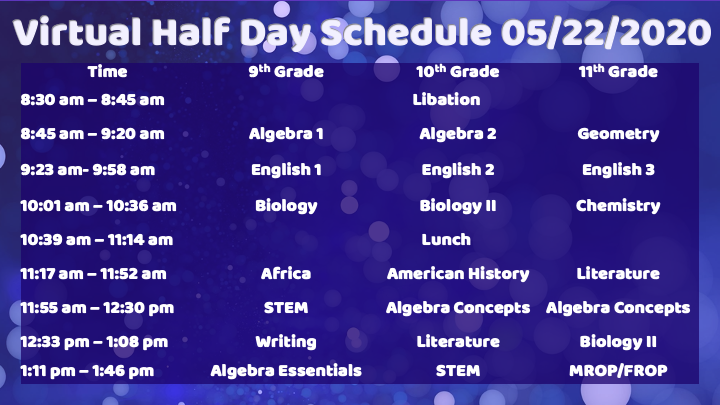 Half-Day Schedule Today Featured Photo