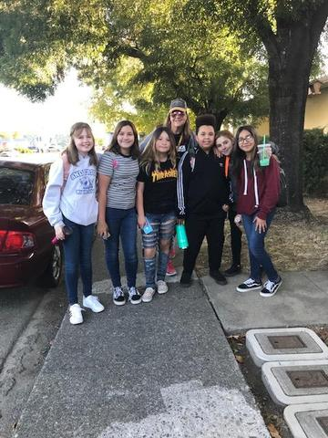 students on walk to school day