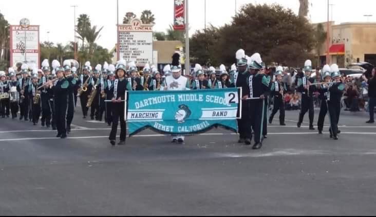 Dartmouth band at the Hemet Christmas Parade