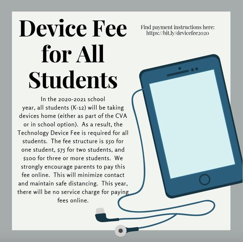 2020-2021 Device fee for ALL Students K-12 Featured Photo