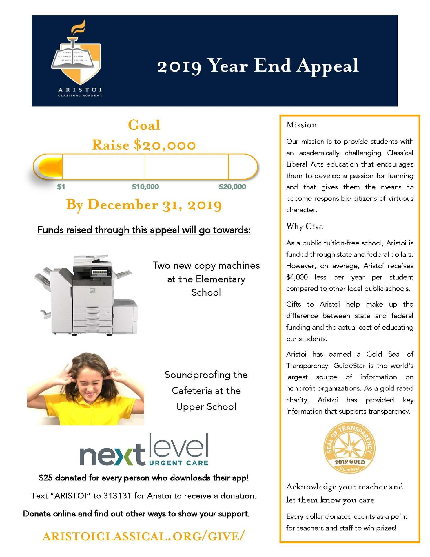 2019 Year End Appeal Flyer