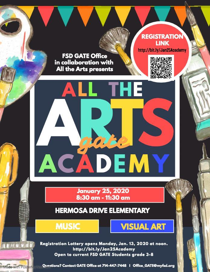 January Art Academy Flyer