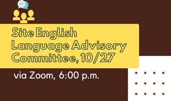 Site English Language Advisory Committee Meeting Featured Photo
