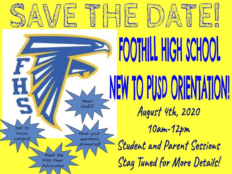 Foothill New-to-PUSD Orientation Featured Photo