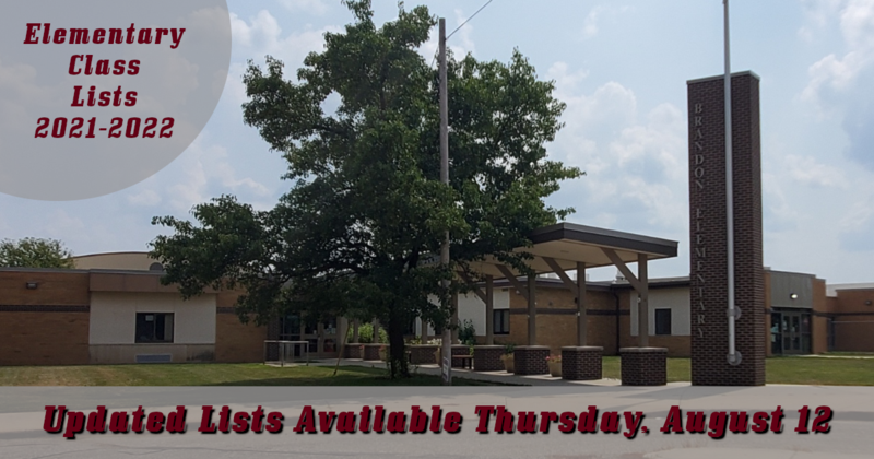 Brandon Elementary - Updated Class List Available