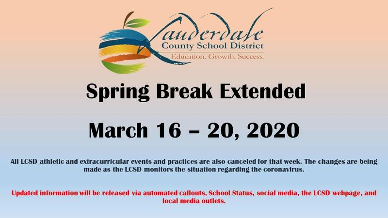 Spring Break Extension Graphic