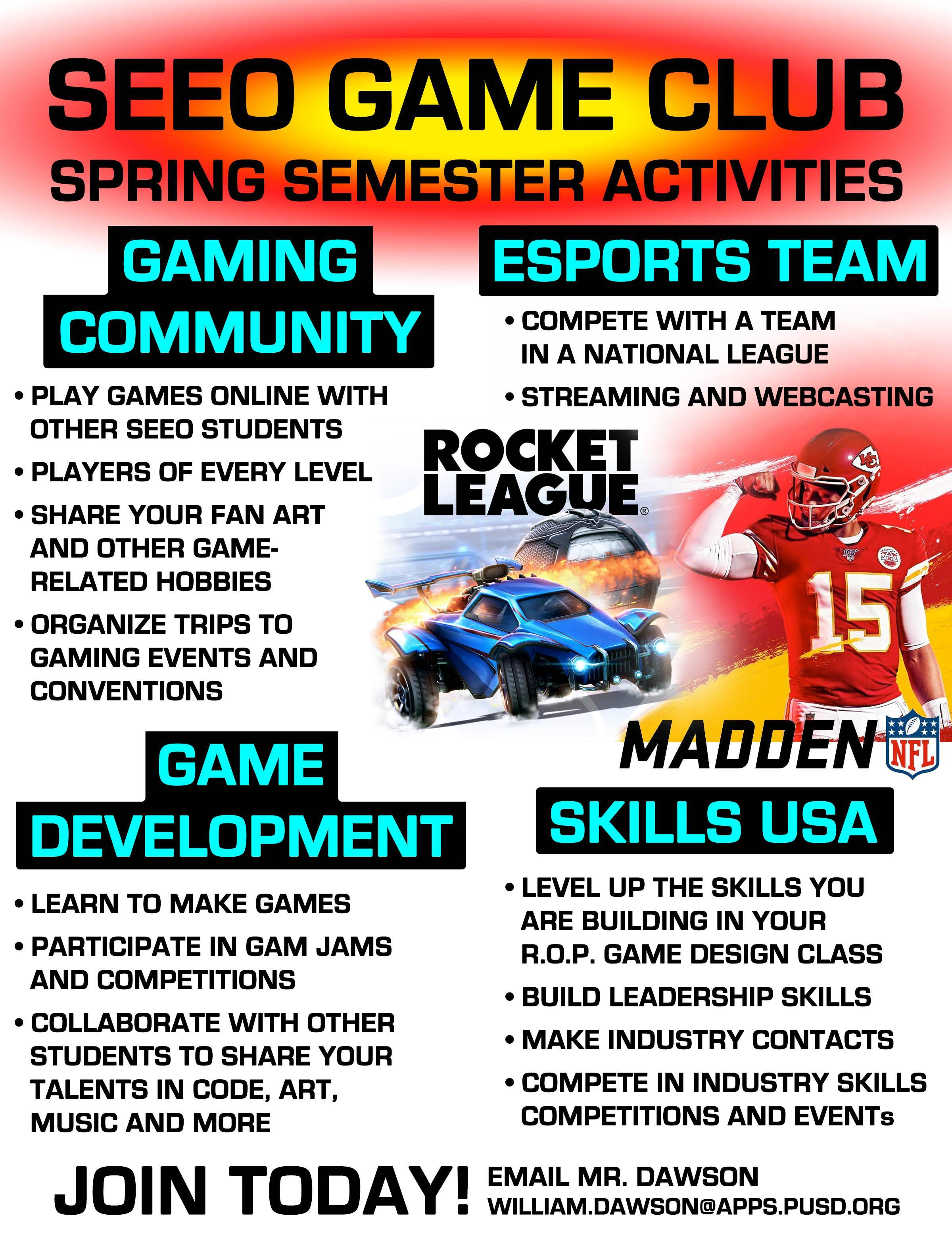image: spring semester club activities